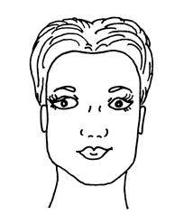 O formato de rosto retangular