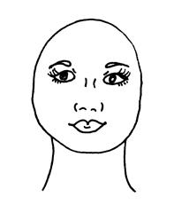 O formato de rosto redondo